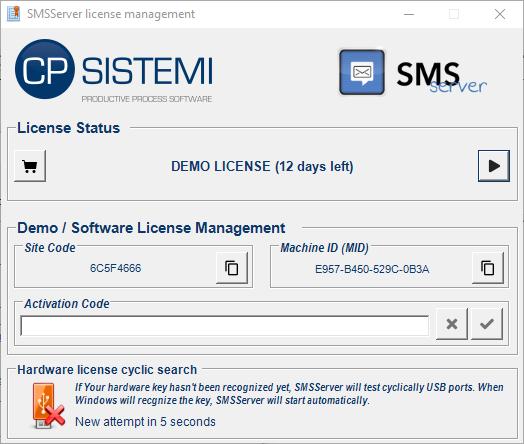 SMSServer - Software license